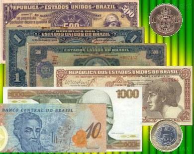 Compro moedas e cédulas a