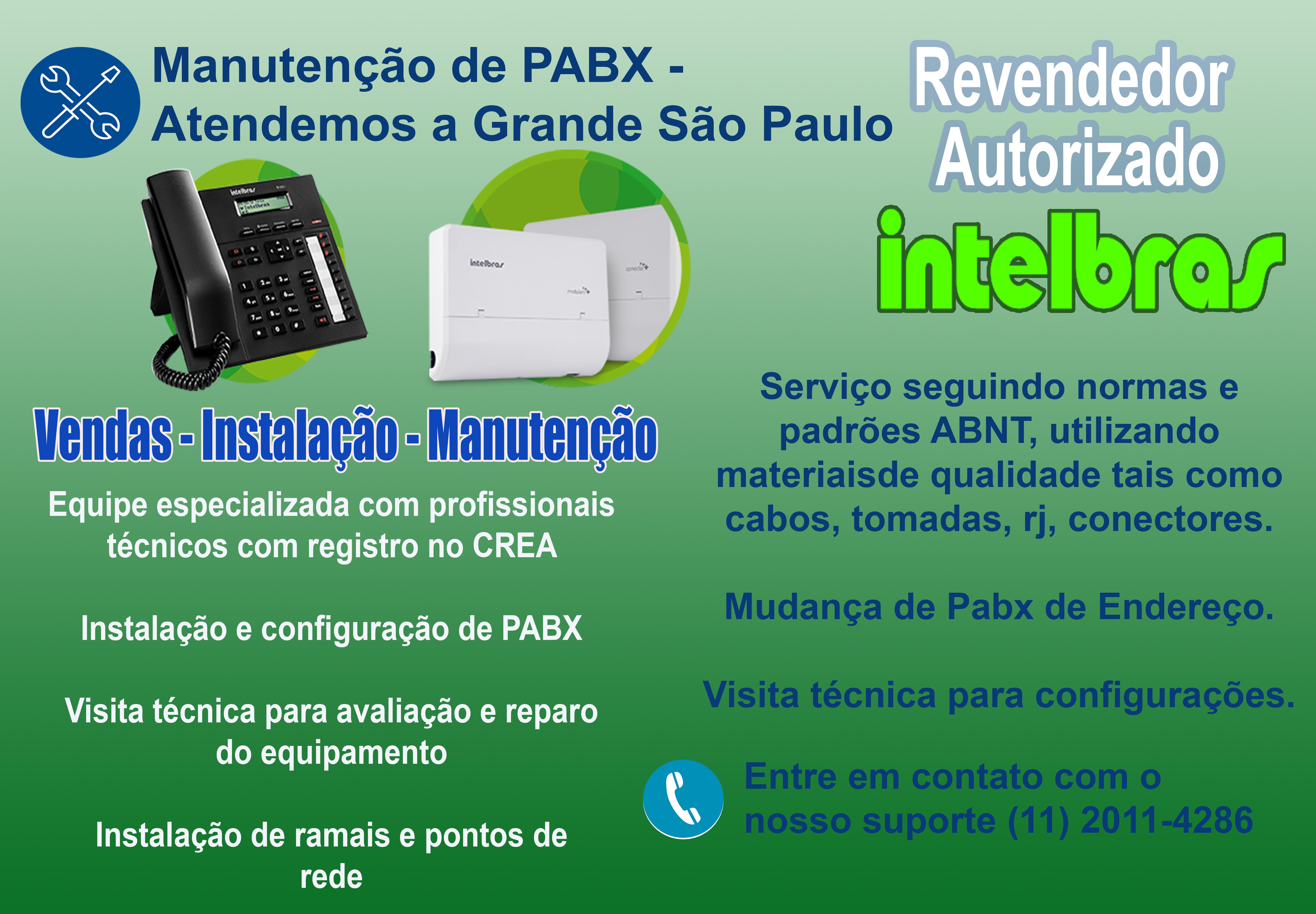 Manutenção de PABX em São