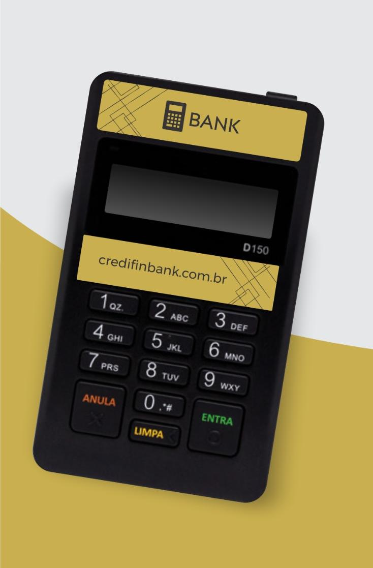 Maquina de débito e crédi