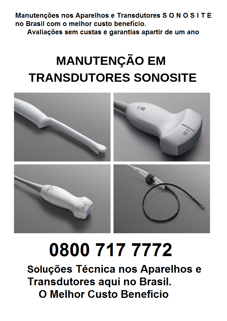 TRANSDUTORES SONOSITE BRA